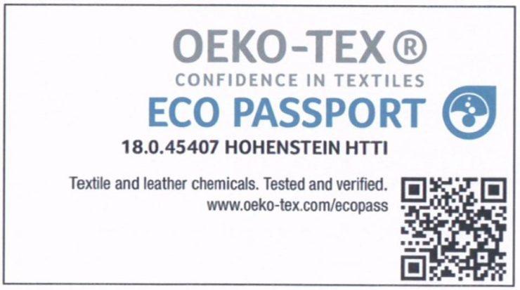 Update OEKO TEX certificate